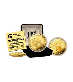 Highland Mint NCAA® Michigan State Spartans 6-Time National Champions Gold Coin