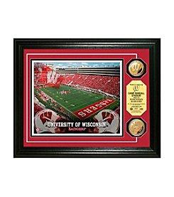 NCAA® University of Wisconsin Stadium Gold Minted Coin Photo