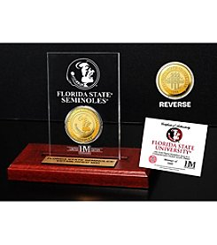 NCAA® Florida State University Gold Coin in Etched Acrylic