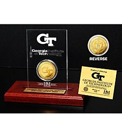 NCAA® Georgia Tech Gold Coin in Etched Acrylic