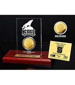 NCAA® North Carolina State University Gold Coin in Etched Acrylic