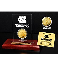 NCAA® University of North Carolina Gold Coin in Etched Acrylic
