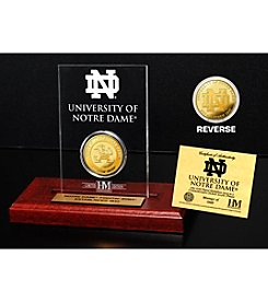 NCAA® University of Notre Dame Gold Coin in Etched Acrylic