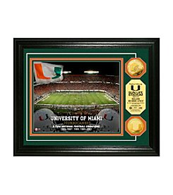 University of Miami Gold Coin Photo Mint by Highland Mint