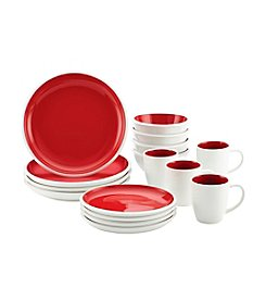 Rachael Ray Rise Stoneware Red Collection