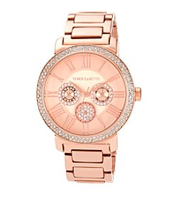 Vince Camuto™ Women's Swarovski Crystal Accented Multi-Function Rose Gold-Tone Bracelet Watch