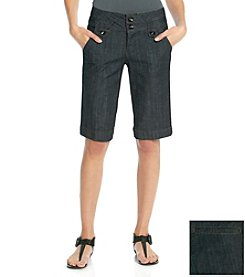 One 5 One® Tabby Trouser Style Bermuda Shorts