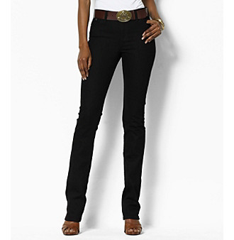 Lauren Jeans Co. Stretch Straight Logo Jeans Women's