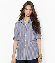 Lauren Jeans Co.® Collared Roll-Sleeve Shirt