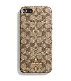 COACH IPHONE 5 CASE IN SIGNATURE SILICONE