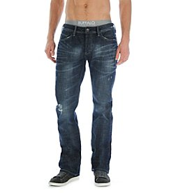 Buffalo by David Bitton Men's Indigo Blue 'King' Slim Bootcut Dark Age Denim