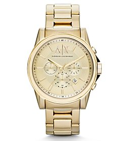 A|X Armani Exchange Goldtone Bracelet Watch