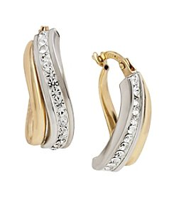 Auragento Crystal Hoop Earrings