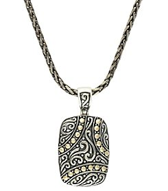 Effy® Carved Pendant in Sterling Silver and 18K Gold