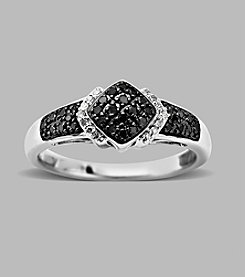 0.20 ct. t.w. Black/White Diamond Ring in Sterling Silver