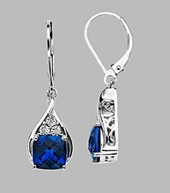 Created Ceylon Earrings in Sterling Silver