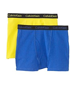 Calvin Klein Boys' 4-18 Yellow/Blue 2-pk. Boxer Briefs