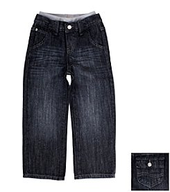 Lee® Boys' 12M-4T Black Blast Knit Waistband Jeans