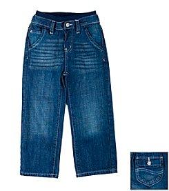 Lee® Boys' 2T-4T Dark Indigo Sand Knit Waistband Jeans