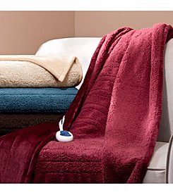 Beautyrest® Solid Microlight and Berber Heated Throw