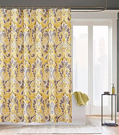 Madison Park™ Capris Yellow Microfiber Shower Curtain