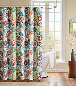 Mi Zone Tamil Multi Microfiber Shower Curtain