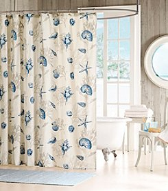 Madison Park™ Bayside Blue Cotton Shower Curtain