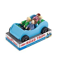 Melissa & Doug® Road Trip! Wooden Car and Pose-able Passengers