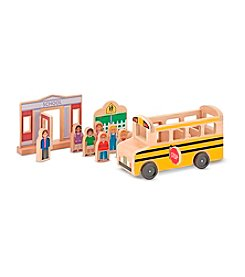 Melissa & Doug® Whittle World - School Bus Set