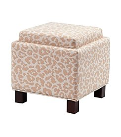 Madison Park® Liaison Cream Square Storage Ottoman with Pillows