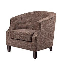 Madison Park® Ansley Chesterfield Brown Barrel Chair
