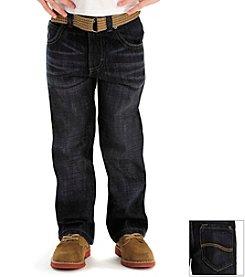 Lee® Boys' 4-7 Titan Dark Belted Slim Jeans