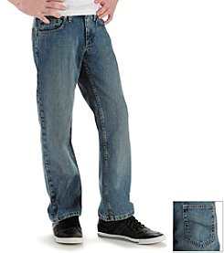 Lee® Boys' 8-20 Worn Medium Stone Relaxed Straight Jeans