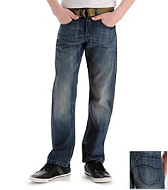 Lee® Boys' 8-20 Jetty Medium Slim Straight Belted Jeans