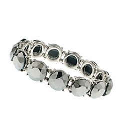 1928® Jewelry Hematite Beaded Stretch Bracelet