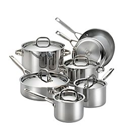 Anolon® 12-pc. Stainless Steel Tri-Ply Clad Cookware Set