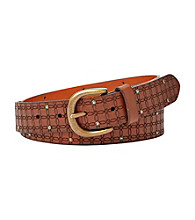 Fossil® Brown Signature Glitz Belt