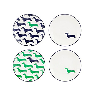 ... UPC 882864425683 product image for Kate Spade New York Wickford Dachshund Set of 4 Tidbit Plates ...  sc 1 st  UPCitemdb.com & UPC 882864425683 - Kate Spade New York Wickford Dachshund Set of 4 ...