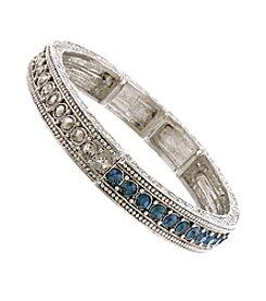 1928 Signature Sapphire Blue Stretch Bracelet