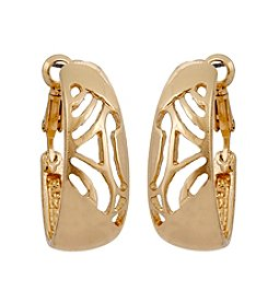 Erica Lyons® Goldtone Update Earrings