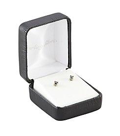 Designs by FMC .25 ct. t.w. Black Diamond Stud Earrings in Sterling Silver