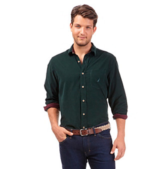 Nautica%C2%AE+Men%27s+Long+Sleeve+Corduroy+Buttondown+Shirt