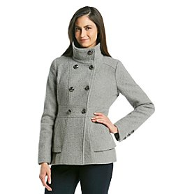 Jessica Simpson Double Breasted Stand Collar Peacoat