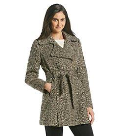 Jones New York® Asymmetrical Zip Belted Walker