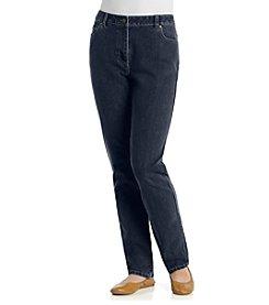 Rafaella® Petites' Curvy 5 Pocket Straight Leg Jeans
