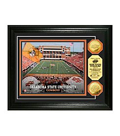 Oklahoma State University Stadium Gold Coin Photo Mint by Highland Mint