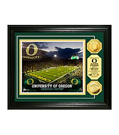 University of Oregon Stadium Gold Coin Photo Mint by Highland Mint