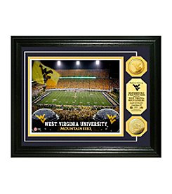 West Virginia University Stadium Gold Coin Photo Mint by Highland Mint