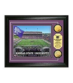 NCAA® Kansas State University Stadium Gold Minted Coin Photo