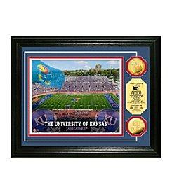 NCAA® University of Kansas Stadium Gold Minted Coin Photo